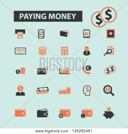 paying money icons