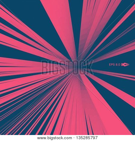 Optical Fiber. Vector Illustration. 3D Abstract Background.