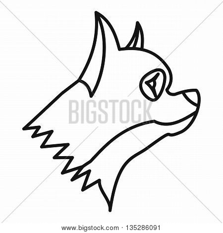 Pinscher dog icon in outline style isolated on white background. Animals symbol