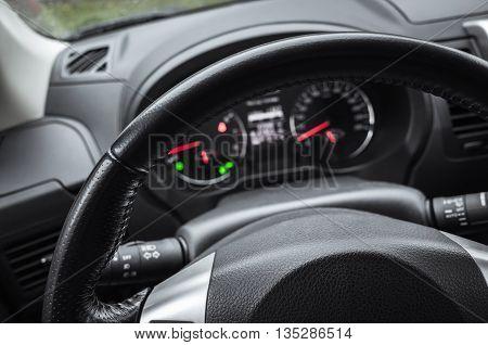 Modern Car Interior, Steering Wheel