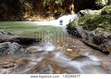 The Giam Village River, Kuching, Sarawak, Malaysia.