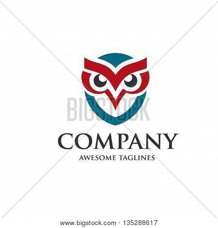 creative owl design ogo vector design template