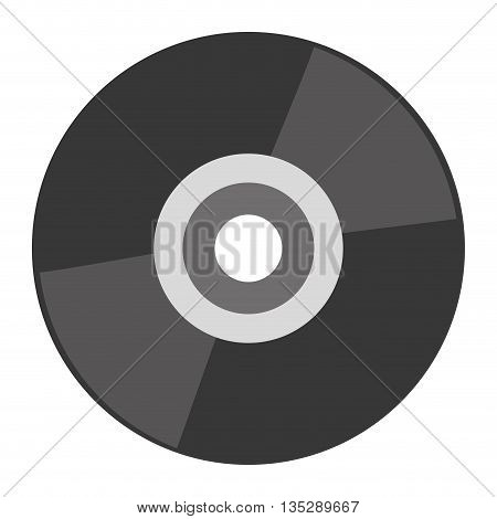 grey cd vector illustration flat icon style