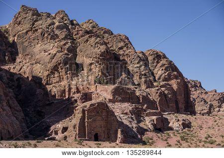 Ancient Tomb Of Sextius Florentinus In Petra, Jordan