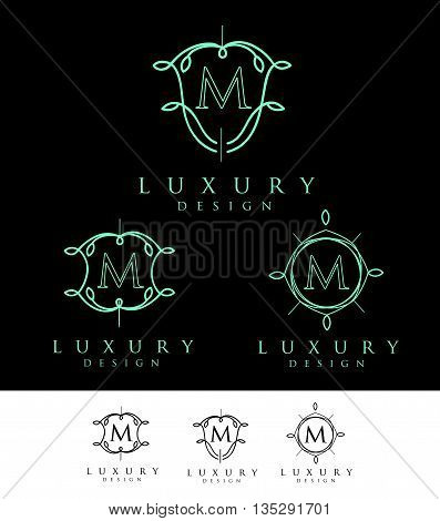 Letter Logo. Simple and elegant floral design logo Elegant lineart luxury vector logo design