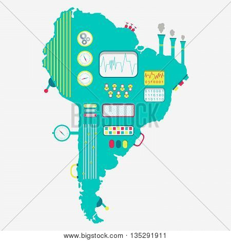 Map Of South America Machine