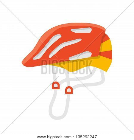 Helmet vector isolated illustration. Protection accessories. Bicycle and skate helmet. Extreme color protection. Flat summer leisure equipment. Helmet icon