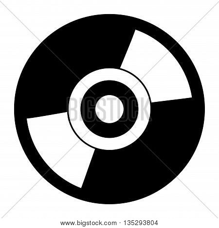 black and white cd vector illustration flat icon style