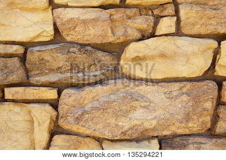 Limestone Rubble Rock Cliff Ledge Mortar Wall