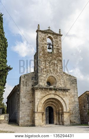 Church of Santa Maria de Porqueres XII century Romanesque Spain Catalunya Girona Pla de l'Estany Porqueres.