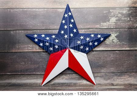 A patriotic star for the Fourth of July