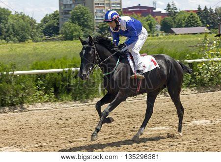 Horse race for the prize Baksan in Nalchik,Caucasus,Russia.