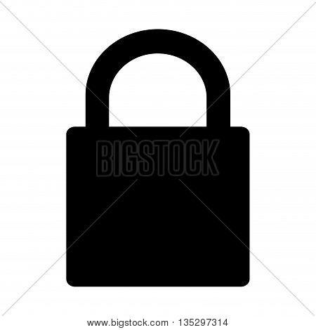 black safety lock vector illustration flat style design