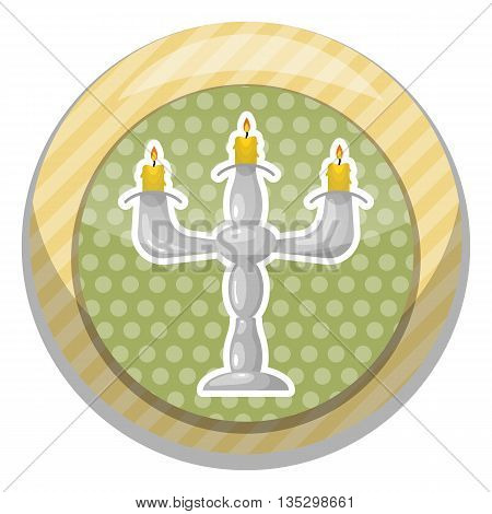 Candlestick colorful icon. Vector illustration in cartoon style
