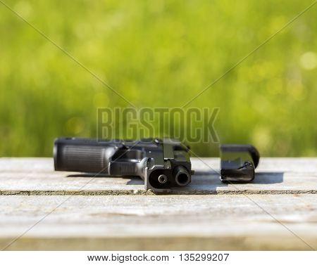 Gun With A Clip