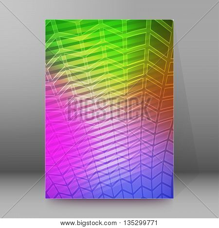 Brochure Cover Template Vertical Format Glowing Background52