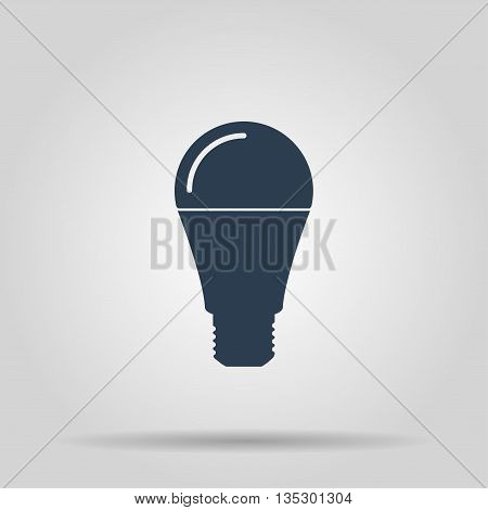 LED lamp icon vector illustration. Flat design style
