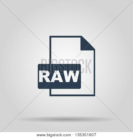 RAW Icon. Vector concept illustration for design.