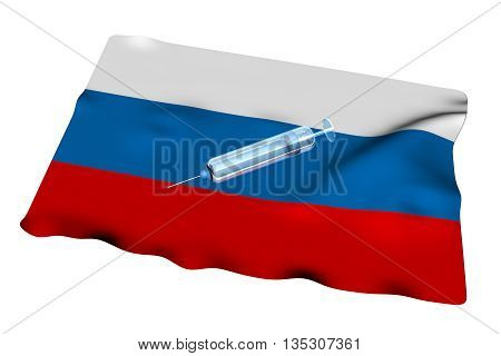 Syringe Over Russian Flag