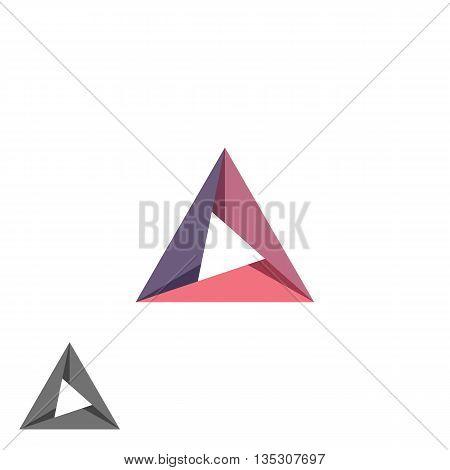 Triangle Logo Mockup Tech Shape Geometric Simple Symbol, Creative Converge Cycle Idea Business Card