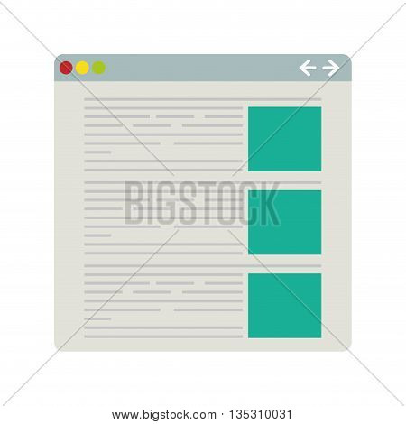 Website  concept represented by data icon over flat and isolated background