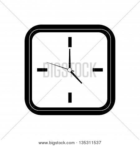 Time concept represented by clock frame  icon over flat and isolated background