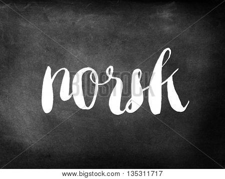 Norsk written on chalkboard