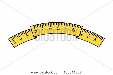 tape measure isolated icon design, vector illustration  graphic