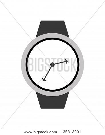 Time concept represented by watch icon over flat and isolated background