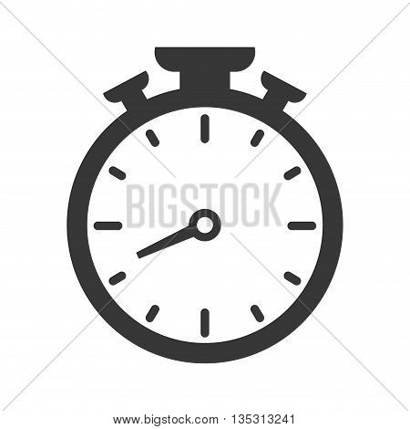 Time concept represented by chronometer icon over flat and isolated background