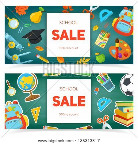Bright banners for marketing design. Vector composition.