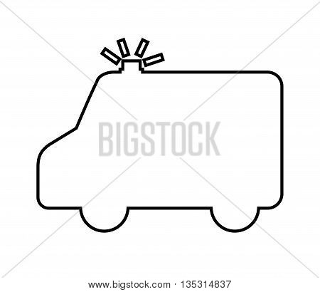 ambulance silhouette isolated icon design, vector illustration  graphic
