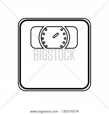weight measure scale isolated icon design, vector illustration  graphic