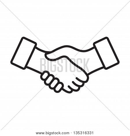 Business handshake, agreement handshake line art icon for apps and websites. eps10