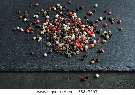 Pile Of Colored Pepper Mix
