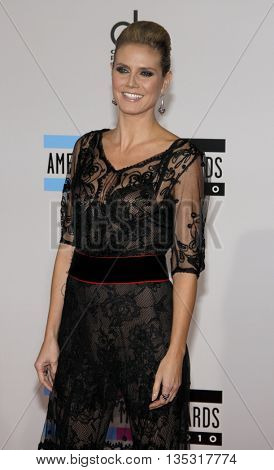 Heidi Klum at the 2010 American Music Awards held at the Nokia Theatre L.A. Live in Los Angeles, USA on November 21, 2010.
