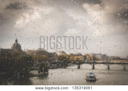 Abstract Blurry Background : City Life Paris France