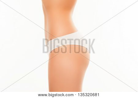 Side View Photo Of White Woman's Drawers And Shape Back