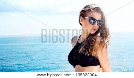 Sexy Girl Posing, Looking At Camera.