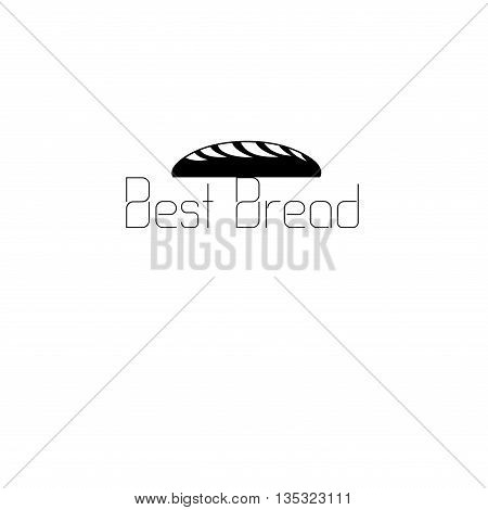 Beautiful vector icon labeled bread and a loaf of bread