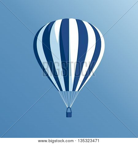 vector illustration of a hot air balloon floating in the blue sky