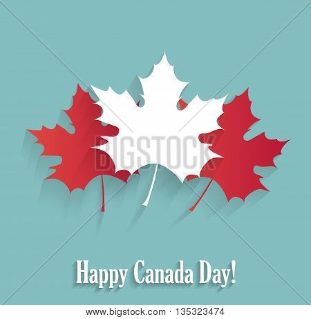 Happy Canada Day poster blue poster. Vector illustration.