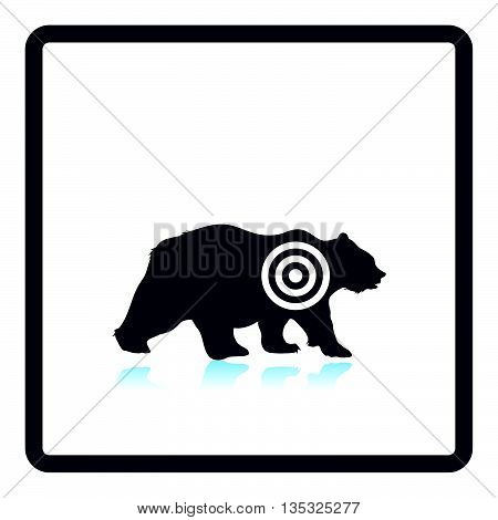 Bear Silhouette With Target  Icon