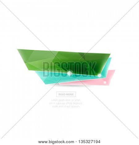 Vector colorful sale banner for promotion or ad. Geometric style vector illustration