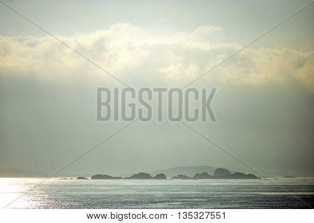 Rocky islands and reefs around St Mary's Tresco Scilly Isles