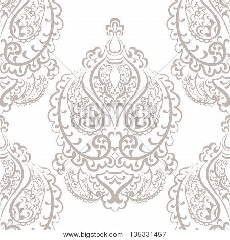 Vector Vintage Empire motif ornament pattern design. Traditional oriental style. Design element for wedding invitation cards backgrounds fabric texture etc. Gold color
