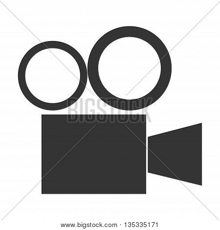 simple grey vintage movie projector vector illustration