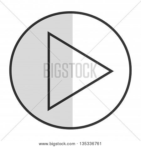 simple play icon inside circle vector illustration