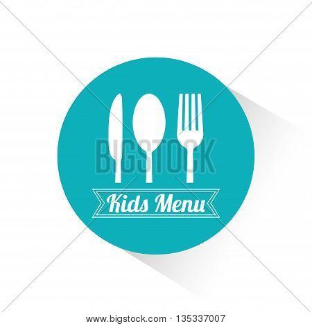 Kids menu design over white background, vector illustration.