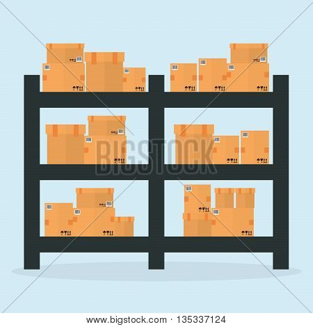 Delivery design over blue background, vector illustration.